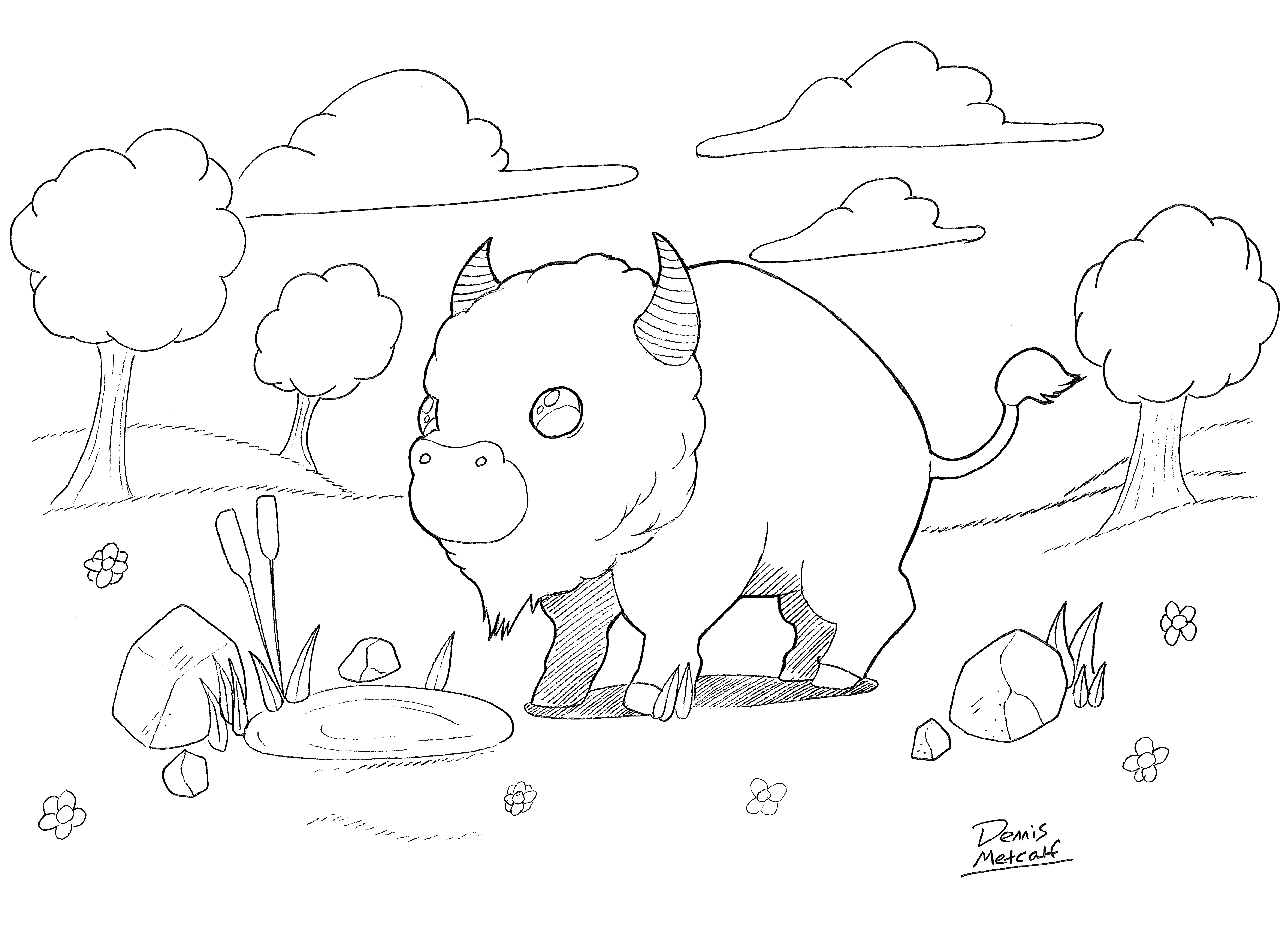 Baby Buffalo (3-5yrs) Coloring Contest